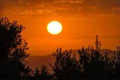 Заход солнца Toscana Стоковая Фотография RF