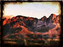 Заход солнца Tucson Аризона гор Каталины Стоковые Изображения