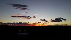 Заход солнца Uluru Стоковое фото RF