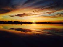 Заход солнца Ural стоковое изображение rf