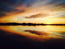 Заход солнца Ural стоковые фотографии rf