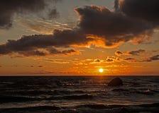 Заход солнца v Стоковое фото RF