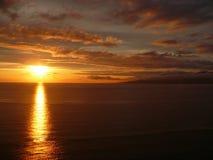 заход солнца vancouver Стоковое Изображение RF