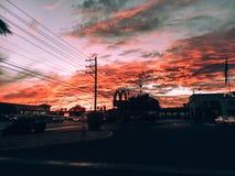 заход солнца vegas las стоковые фотографии rf