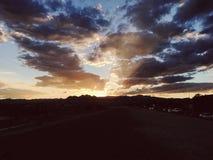 заход солнца vegas las стоковые фото