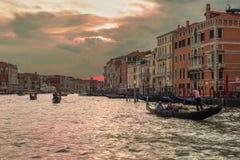 заход солнца venice Италии Стоковые Изображения