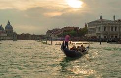 заход солнца venice Италии Стоковое Изображение RF