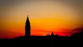 заход солнца venice Италии Стоковая Фотография RF
