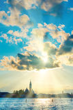 заход солнца venice Стоковая Фотография RF