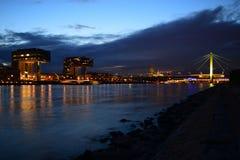 Заход солнца VI Кёльна Стоковая Фотография RF