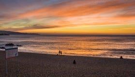 Заход солнца Vina Del Mar Стоковые Фото