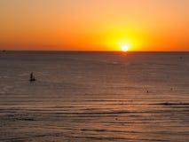 Заход солнца Waikiki Стоковое Изображение RF
