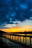 Заход солнца Weston Стоковые Фото