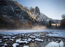 Заход солнца Yosemite Стоковые Фото