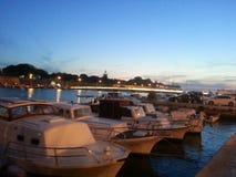 Заход солнца Zadar Далмации Стоковые Изображения RF