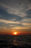Заход солнца 2 Zadar Стоковое Изображение RF