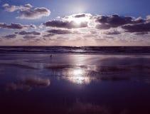 Заход солнца Zandvoort Стоковое фото RF