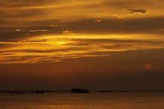 заходы солнца Стоковые Фото