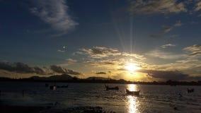 заходы солнца в Banda Aceh Стоковые Фото