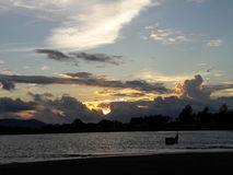 заходы солнца в Banda Aceh Стоковое фото RF