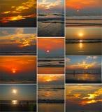 Заходы солнца в Goa Стоковые Фото