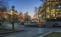Заходы солнца Москвы Стоковая Фотография RF