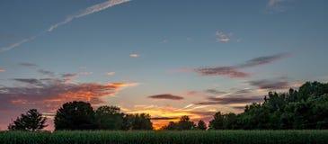 Заходы солнца страны произведения искусства Стоковое Изображение RF