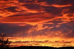 Заходы солнца Kingman AZ Стоковое Изображение