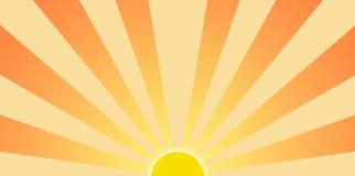 заходящее солнце графика зажима искусства Стоковые Изображения
