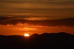 Заходящее солнце стоковое изображение rf