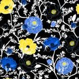 Зацветать флористический в картине ночи сада в много вид  Стоковое Изображение