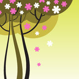 Зацветая дерево с цветками Стоковое Изображение