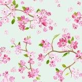 Зацветая предпосылка картины цветков весны Безшовная печать моды иллюстрация вектора