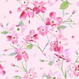 Зацветая предпосылка картины цветков весны Безшовная печать моды бесплатная иллюстрация