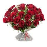 Зацветите букет от красных роз изолированных на белой предпосылке. Стоковая Фотография