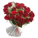 Зацветите букет от красных роз изолированных на белой предпосылке. Стоковое фото RF