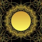 зацветите золото иллюстрация вектора