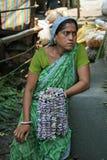 Зацветите продавец в рынке цветка ` s Kolkata Стоковое Изображение RF