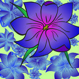 зацветите пурпур Иллюстрация вектора