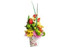 Зацветите состав на праздник, букет букета весны fl Стоковые Изображения