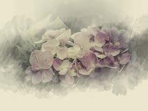 Зацветите цветки дизайна черные винтажные красивые сделанные с цветом f Стоковые Фотографии RF