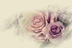 Зацветите цветки дизайна черные винтажные красивые сделанные с цветом f Стоковые Изображения