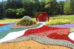 Зацветите ` Япония выставки через глаза ` Украины на поляке Spivoche в Kyiv, Украине стоковое фото
