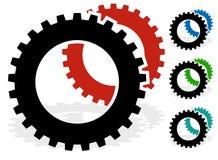 Зацепите, индустрия cogwheel, технология, обслуживание, concep обслуживания Стоковое Фото
