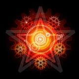 зацепляет накаляя techno pentagram иллюстрация штока