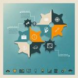 Зацепляет infographics стоковые фотографии rf