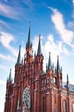 зачатие безукоризненный moscow собора католическое Стоковые Изображения RF