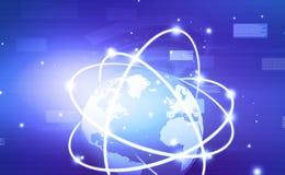 Зачатие глобальной вычислительной сети бесплатная иллюстрация