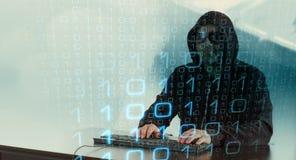 Зачатие кибернетического преступления Стоковое фото RF