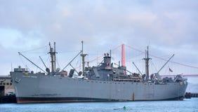 Зачаливание военного корабля Иеремии O'Brien на пристани 45 в причале s рыболова Стоковые Изображения